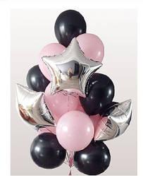 Композиція з гелієвих кулькок на замовлення GLAM