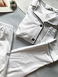 Женская пижама штанами теплая белого цвета V.Velika, фото 3