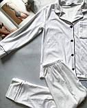 Женская пижама штанами теплая белого цвета V.Velika, фото 4