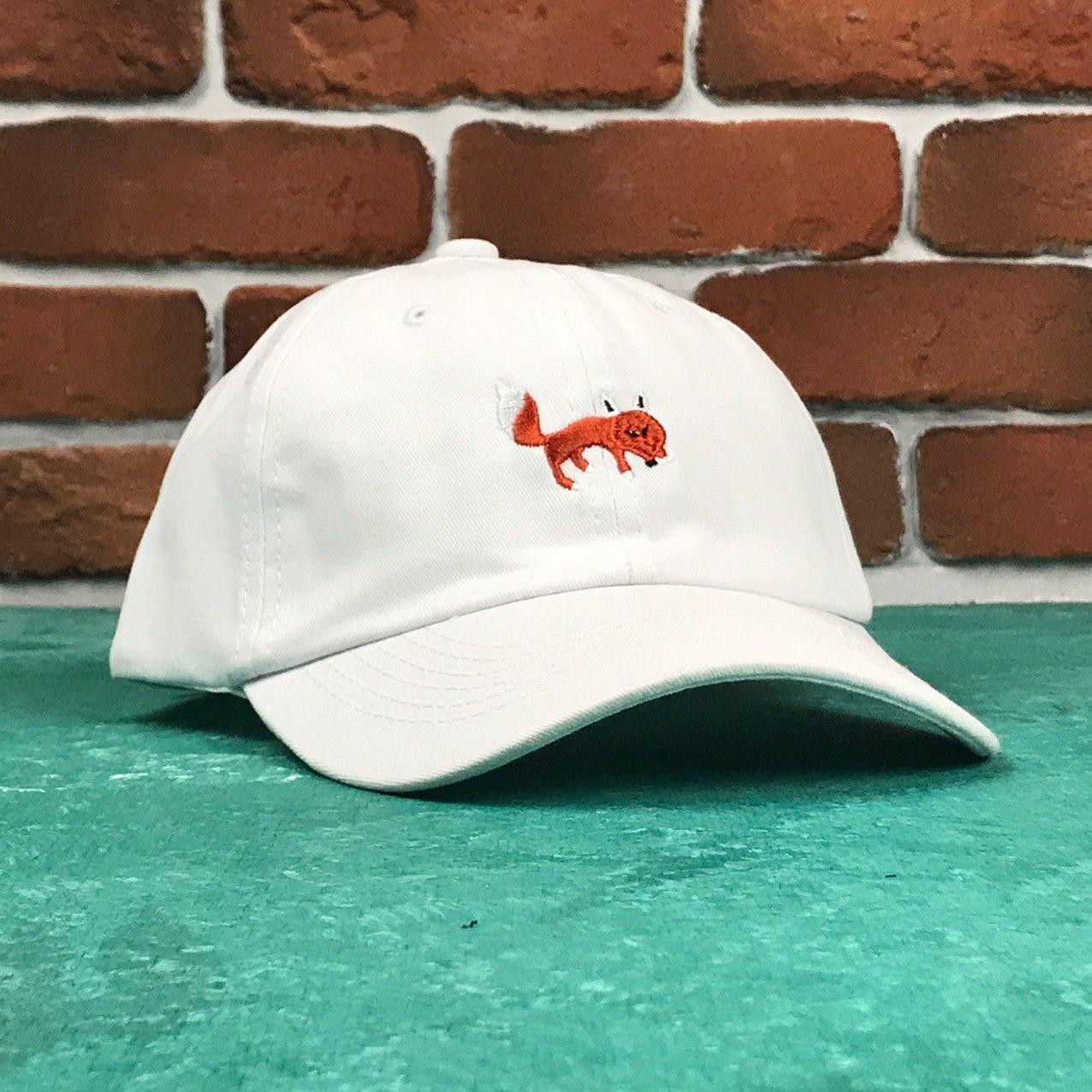 Кепка Бейсболка Мужская Женская City-A Fox с Лисой Белая