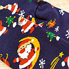 """Носки женские махровые новогодние высокие """"Стиль Люкс"""" размер 23-25 дед мороз на луне 20039820, фото 4"""