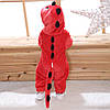 Кигуруми Дракон красный пижама цельная детская комбинезон унисекс р.130, фото 2