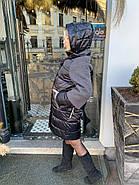 Черный пуховик с капюшоном Visdeer 808-E-02, фото 5