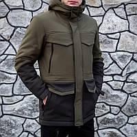 """Куртка зимова Pobedov """"Rocketman"""" хакі-чорна"""