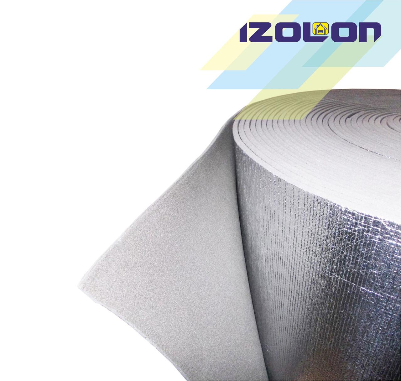 IZOLON BASE 2 мм фольгированный химически сшитый полиэтиен пенополиэтилен ППЭ
