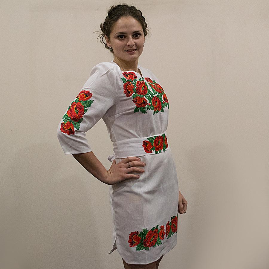241e8c864100f6 Жіноча сукня з вишивкою хрестиком