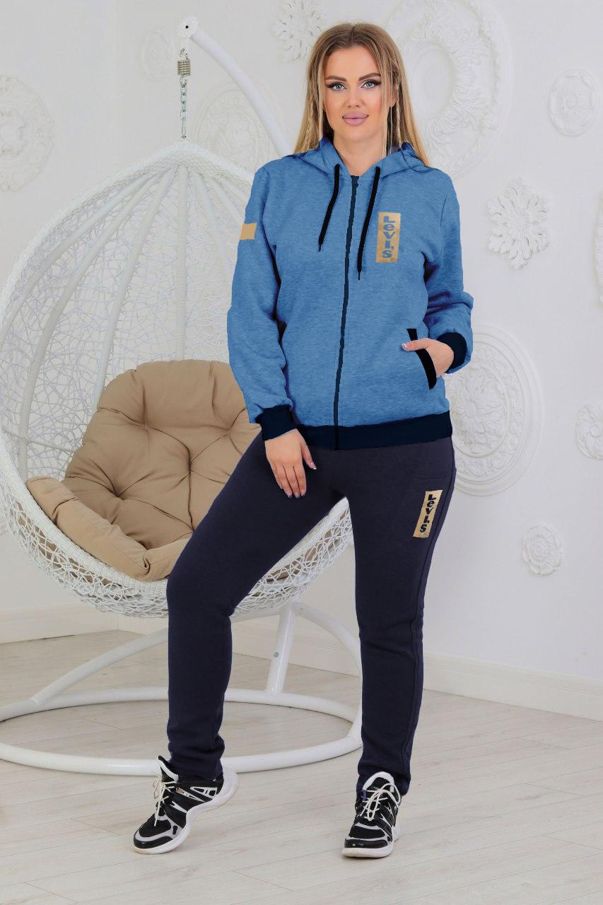 Теплий спортивний костюм жіночий з трикотажу, сезон: Зима, розміри 56, 58 і сірий 48