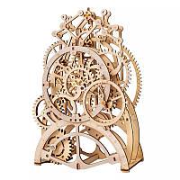 Деревянный 3D конструктор Robotime LK501 Часы с маятником для детей