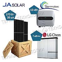 Комплект для гибридной солнечной станции 10 кВт Sermatec и JaSolar 370 Вт
