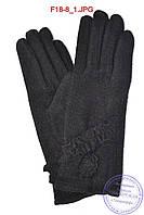 Женские кашемировые перчатки на кролике (мех искусственный) - F18-8