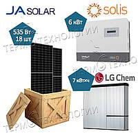Комплект для гибридной солнечной станции 6 кВт Solis и JaSolar 535 Вт