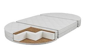 Матрац дитячий в овальну ліжечко Transformer Lite (120х70х7см) Кокос-поролон