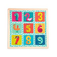 Деревянная игрушка-вкладыш - Магнитные цифры Battat BX1848GZ, фото 1