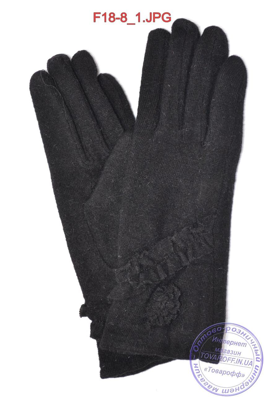 Оптом женские кашемировые перчатки на кролике (мех искусственный) - F18-8