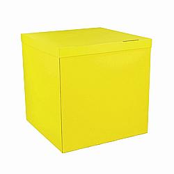 Коробка-сюрприз 700*700*700 мм, Жёлтая, без печати, PREMIUM