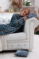 Махровый плед с двумя рукавами на подарок + подушка в подарок