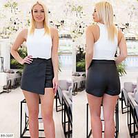 Стильные красивые женские женские шорты короткие из эко-кожи арт 1011