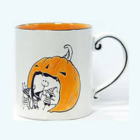 Кружка - 650 мл, Белая / Оранжевая, Тыква (UNO PRO) Сказка Хэллоуин