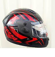 Детский Шлем интеграл черно красной Speed