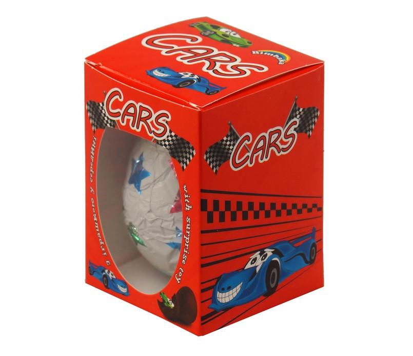 Шоколадное яйцо Bimbaka Cars Тачки для мальчиков 50 г Украина