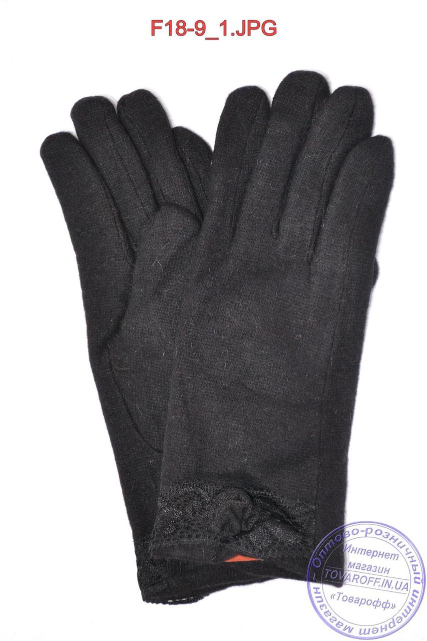 Оптом жіночі кашемірові рукавички на кролика (хутро штучне) - F18-9