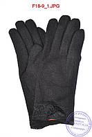 Оптом женские кашемировые перчатки на кролике (мех искусственный) - F18-9