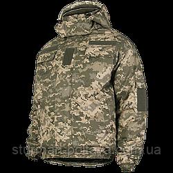 Куртка армійська зимова бушлат MM14 з капюшоном камуфляж піксель матеріал Twill 100% бавовна Україна