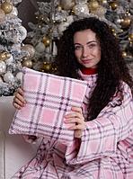 Плед махровый с двумя рукавами на подарок + подушка в подарок