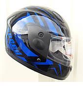 Детский Шлем интеграл черно синий Speed