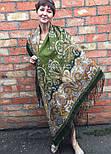 Караван 970-10, павлопосадский платок (шаль) из уплотненной шерсти с шелковой вязанной бахромой, фото 3