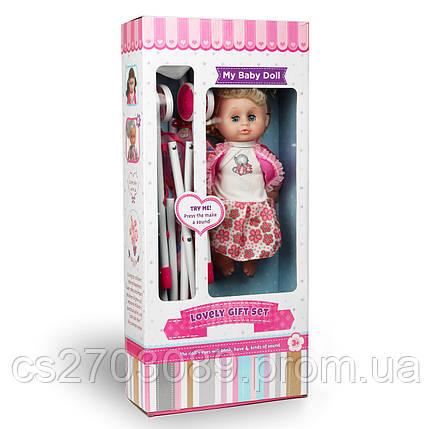 Кукла с коляской, размер 35 см, фото 2