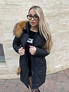 Пуховик женский с капюшоном Visdeer  812-B01, фото 3