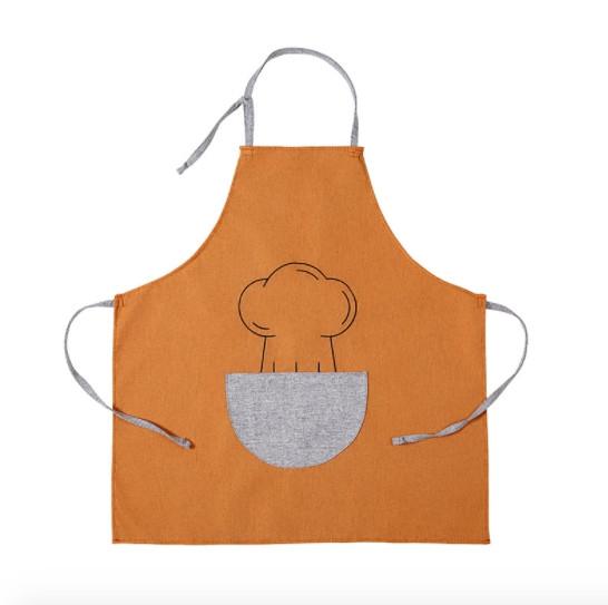 Фартук оранжевый с серым карманом / Фартух 68*66 см