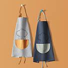 Фартук серый с оранжевым карманом / Фартух 68*66 см, фото 3