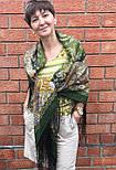 Караван 970-10, павлопосадский платок (шаль) из уплотненной шерсти с шелковой вязанной бахромой, фото 4