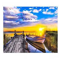 """Раскраска по номерам """"Закат на озере 2"""", 40х50см. №30403"""
