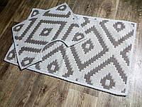 Набор ковриков для ванной и туалета. Хлопок. (Турция) 60Х100. 60100-50