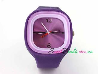 Часы силикон, фиолет