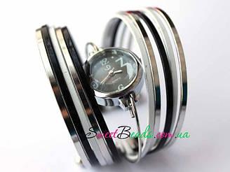 Часы-браслет-10, черно-белый