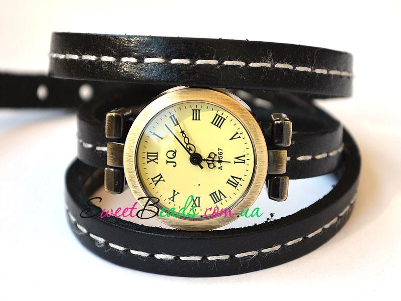 Часы наручные со швом, черный