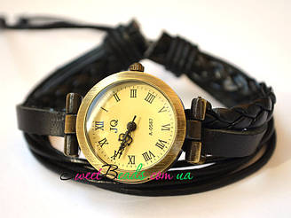 Часы наручные С косичкой, черный