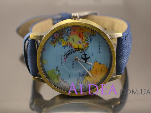 Часы наручные Вокруг света, синие