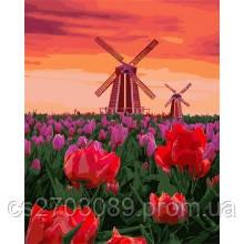 "Картина по номерам ""Тюльпаны на западе"" 40*50"