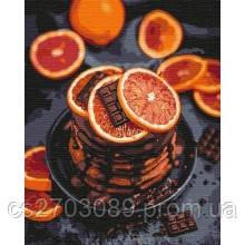 """Картина по номерам """"Апельсиново-шоколадное наслаждение"""" 40*50, фото 2"""