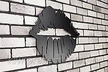 "Картина из металла ""Губы"". Декоративное панно на стену., фото 3"
