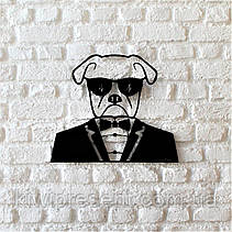 "Картина из металла  ""Мистер Бокс"" (черный мат). Панно на стену., фото 3"