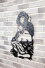 "Картина из металла настенная  ""Мадонна"" (черный мат). Декоративное панно на стену., фото 2"