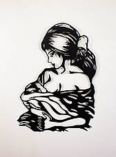 "Картина из металла настенная  ""Мадонна"" (черный мат). Декоративное панно на стену., фото 3"