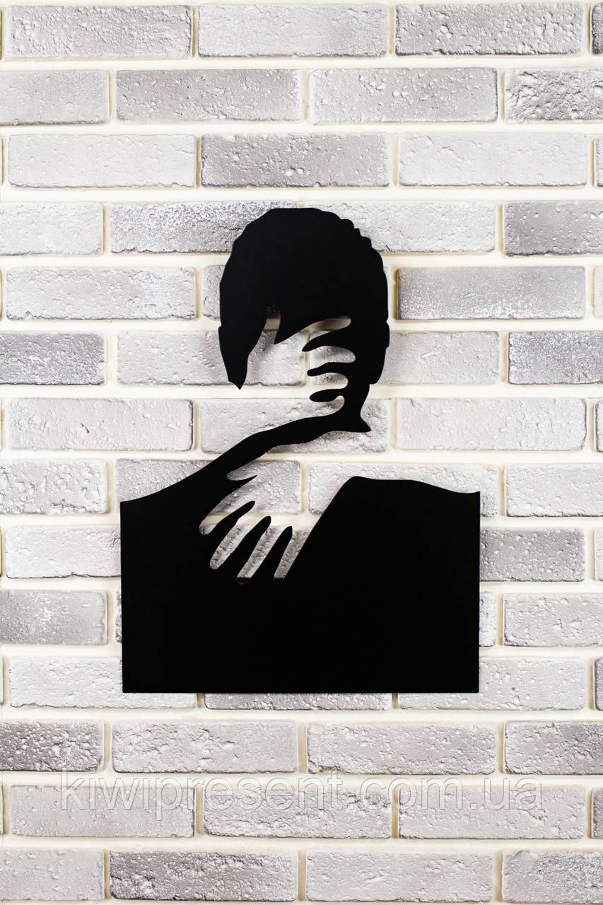 """Декоративное панно на стену """"С любимыми не расставайтесь..."""" 98х127 см. Картина из металла 3Д."""