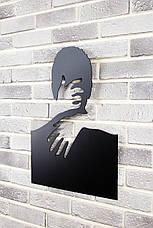 """Декоративное панно на стену """"С любимыми не расставайтесь..."""" 98х127 см. Картина из металла 3Д., фото 2"""